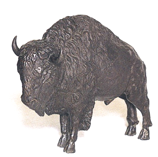 Bronze Bison Statues
