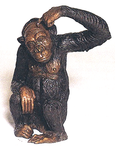 Bronze Monkey Statue - ASB 651