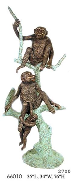 Bronze Monkey Statue - AF 66010