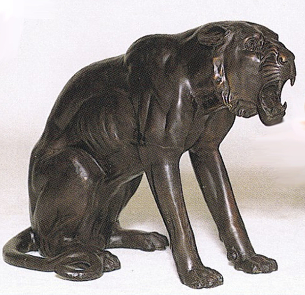 Bronze Panther Statues