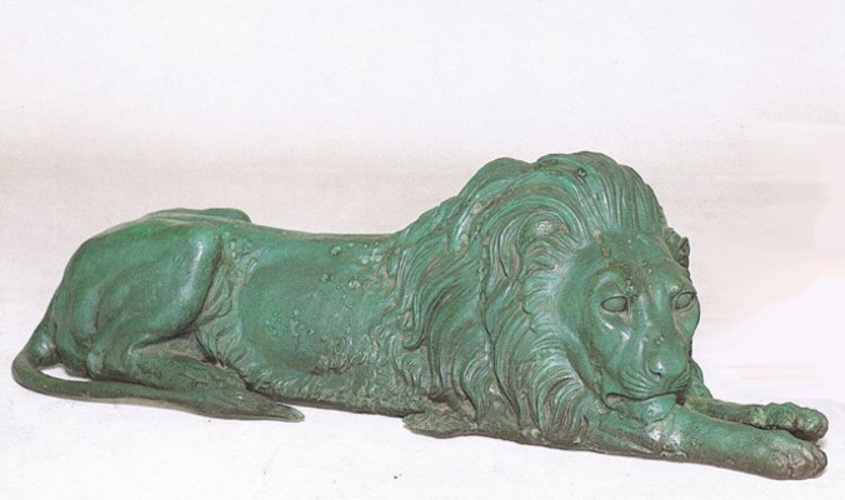 Bronze Lion Statues - ASB 667