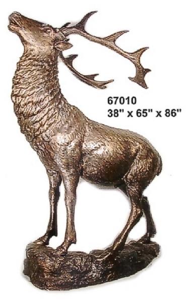 Bronze Elk Statues - AF 67010