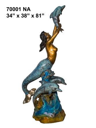 Bronze Mermaid Statues - AF 70001NA-S