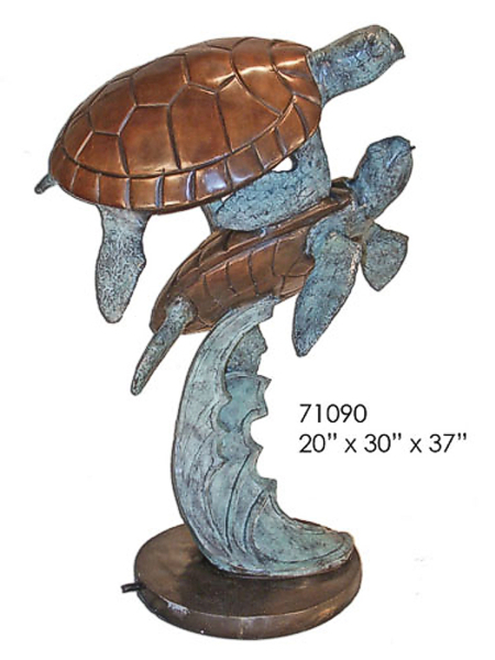 Bronze Turtle Fountain - AF 71090
