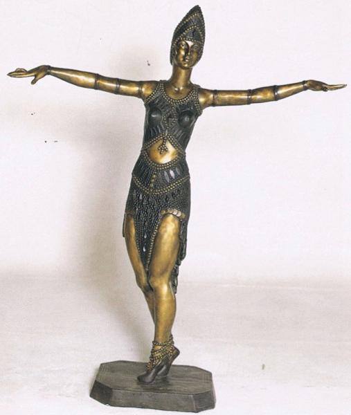 Bronze Dancing Lady Statue - ASB 715