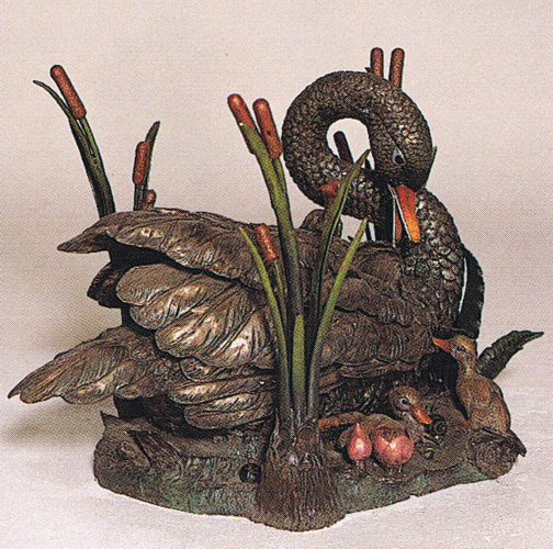 Bronze Swan Table - ASB 726