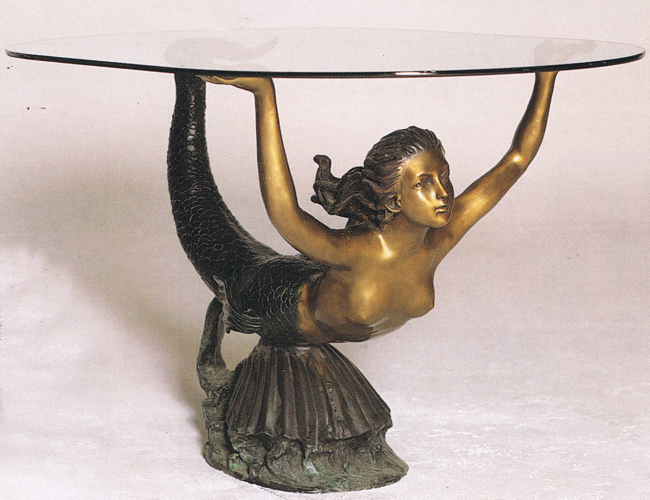 Bronze Unique Mermaid Tables - ASB 731