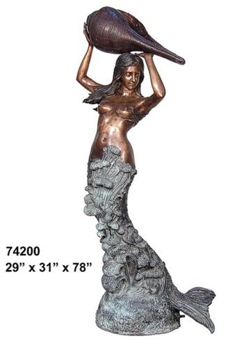 Bronze Mermaid Statues - AF 74200-S