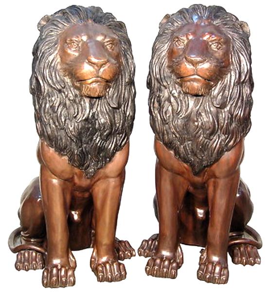 Bronze Lion Statues - AF 74220
