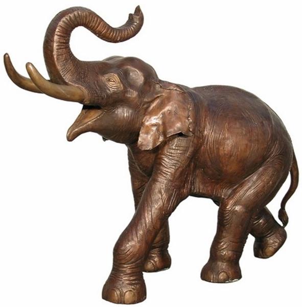 Bronze Elephant Statue - AF 74235L