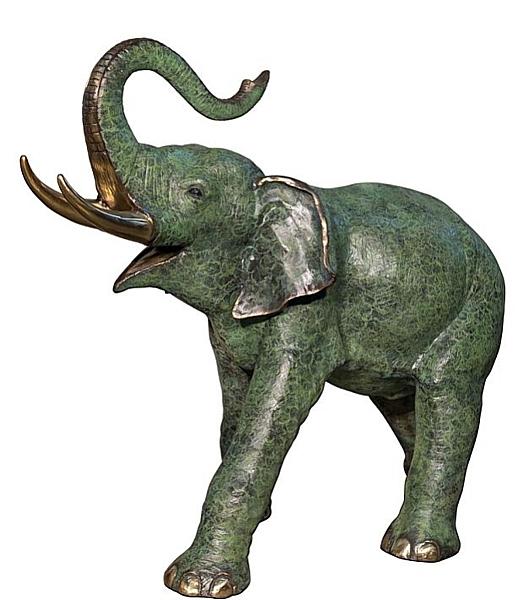 Bronze Elephant Statue - AF 74235L NJ