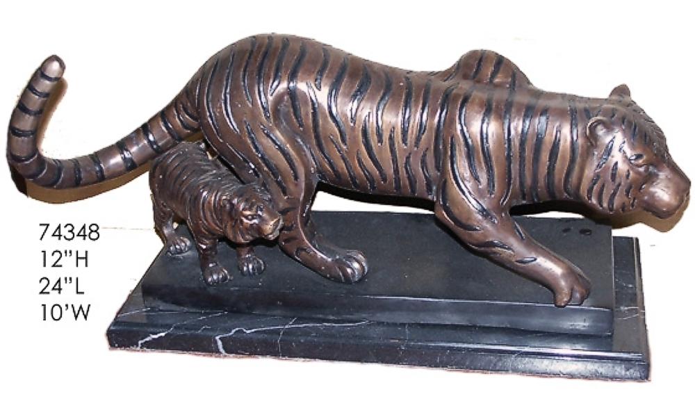 Bronze Tiger Statues - AF 74348