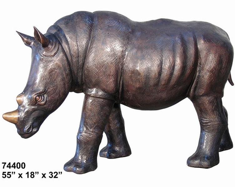 Bronze Rhinoceros Statues - AF 74400