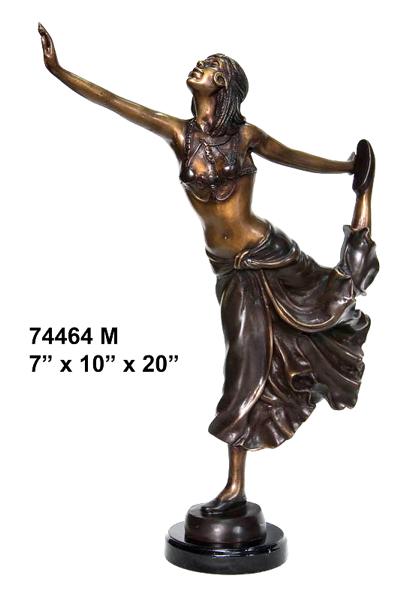 Bronze Dancing Lady Statue - AF 74464M