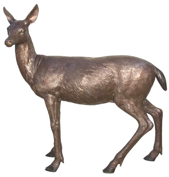 Bronze Doe Deer Statues - AF 74468