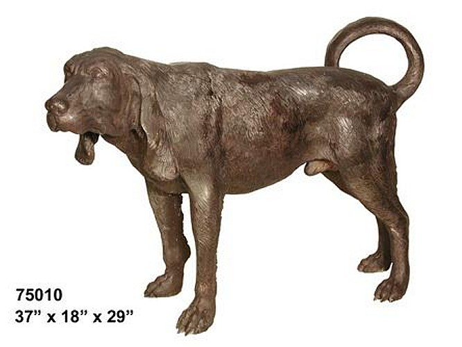 Bronze Bloodhound Statue - AF 75010