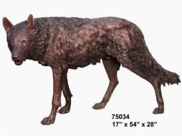 Bronze Wolf Statues - AF 75034
