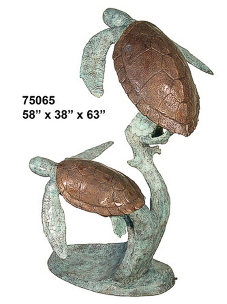 Bronze Turtle Fountains - AF 75065