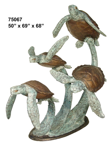 Bronze Turtle Fountains - AF 75067-F