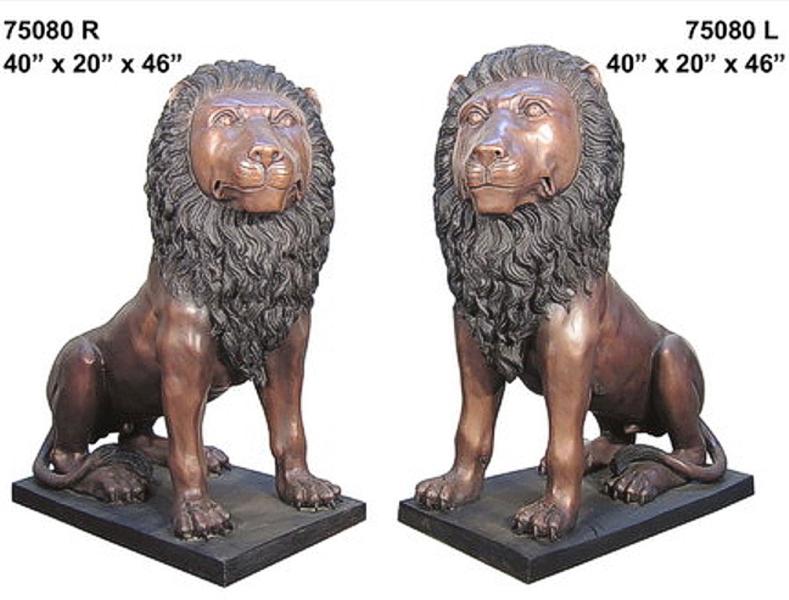 Bronze Lion Statues - AF 75080