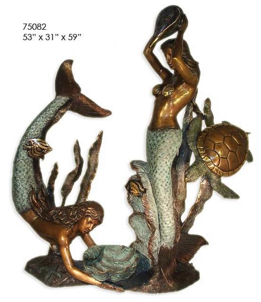Bronze Mermaid Statues - AF 75082BG-S