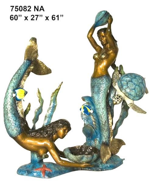 Bronze Mermaid Statues - AF 75082NA-S