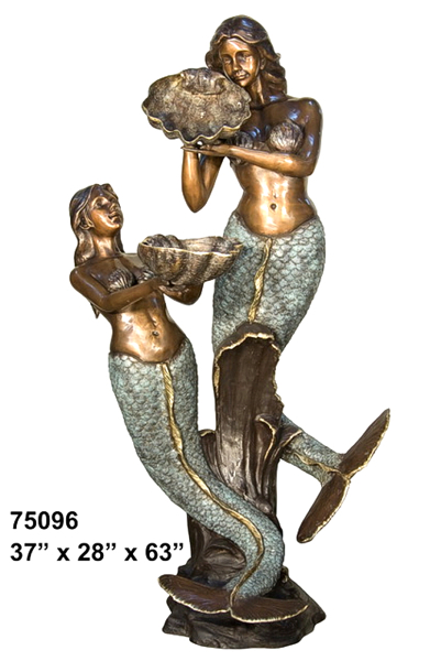 Bronze Mermaid Statues