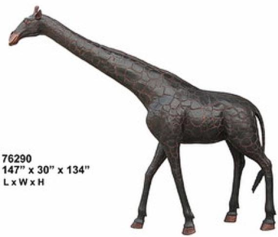 Bronze Giraffe Statues - AF 76290