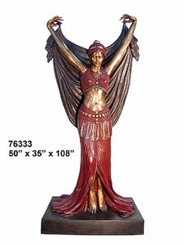 Bronze Dancing Lady Statue - AF 76333