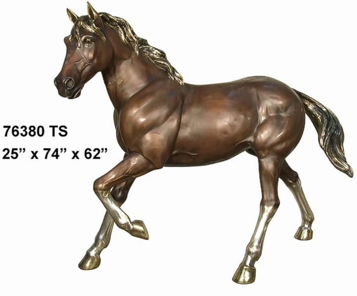 Walking Bronze Horse Statue - AF 76380 TS