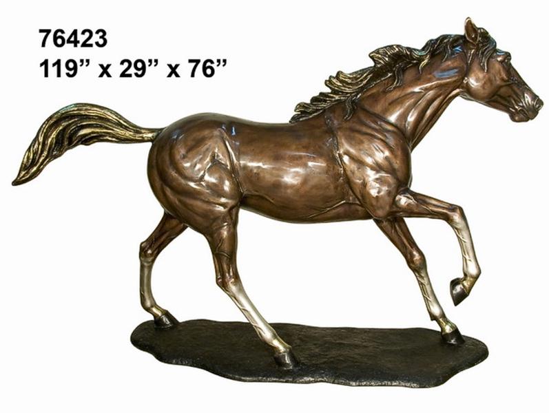 Charging Bronze Horse Statue - AF 76423