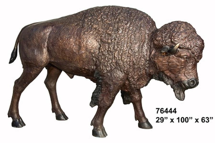 Bronze Bison Statues - AF 76444