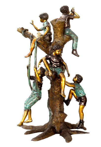 Bronze Children Statues - ASB 797