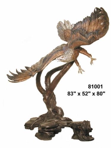 Bronze Eagle Hunting Statue