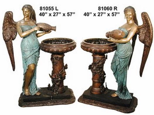 Bronze Angel Fountain - AF 81055L-60R