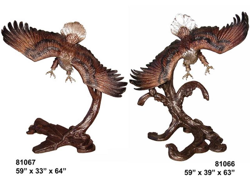 Bronze Eagle Statues - AF 81066-67
