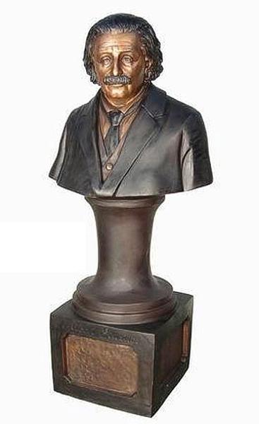 Bronze Albert Einstein Bust - AF 81072