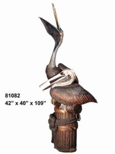 Bronze Pelican Statues - AF 81082