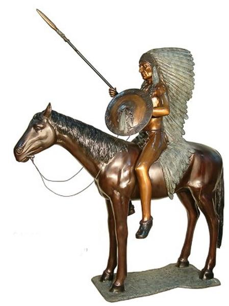 Bronze Indian Chief Statue