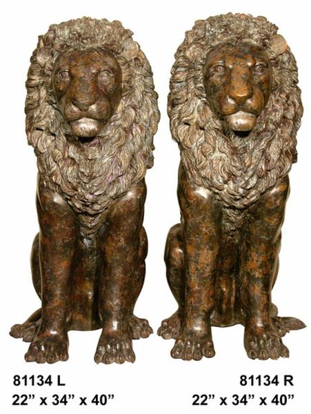 Bronze Lion Statues - AF 81134