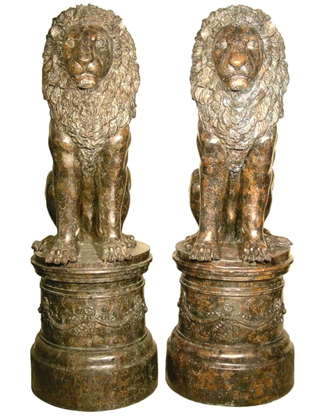 Bronze Lion Statues - AF 81136