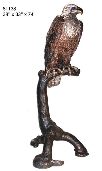 Bronze Eagle Statues - AF 81138
