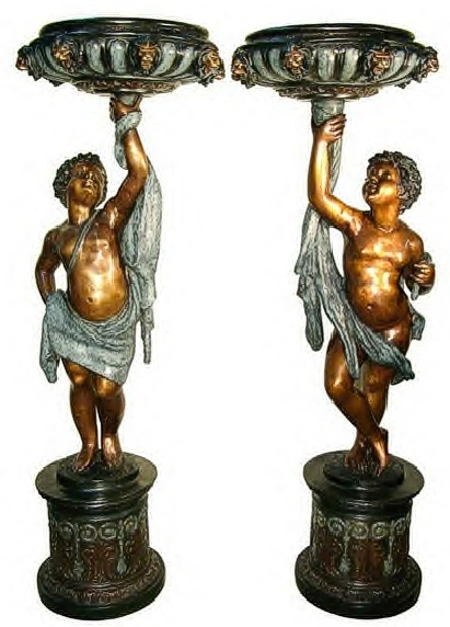 Bronze Boys Fountain - AF 81146-47