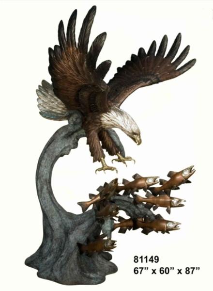 Bronze Eagle Statues - AF 81149TS-S