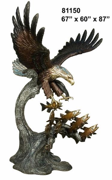 Bronze Eagle Statues - AF 81150-S