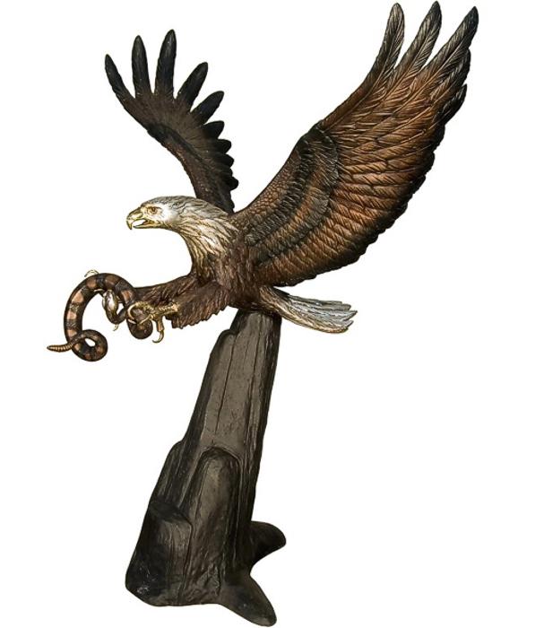Bronze Eagle Statues