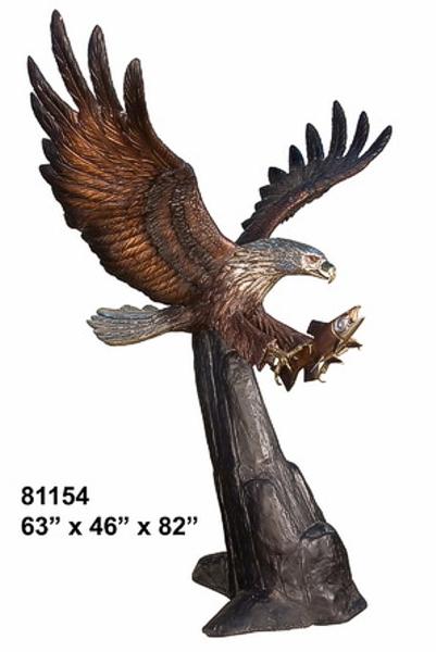Bronze Eagle Statues - AF 81154