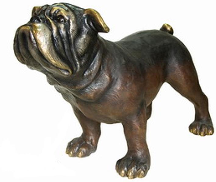 Bronze Bulldog Mascot Statue - AF 81167