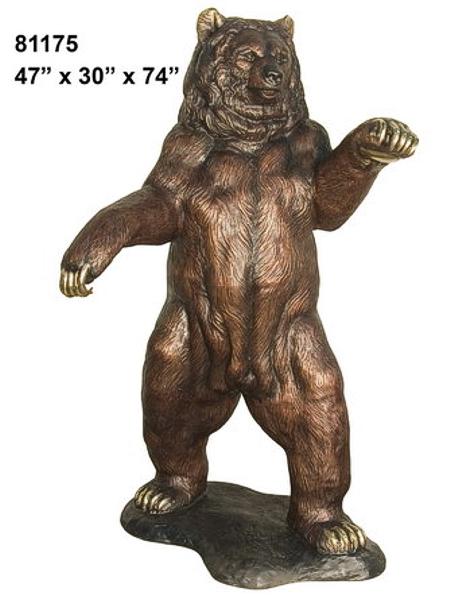 Bronze Bear Statues - AF 81175