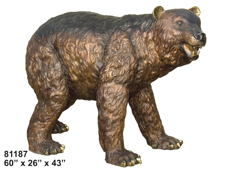 Brown Bear Bronze Statue - AF 81187